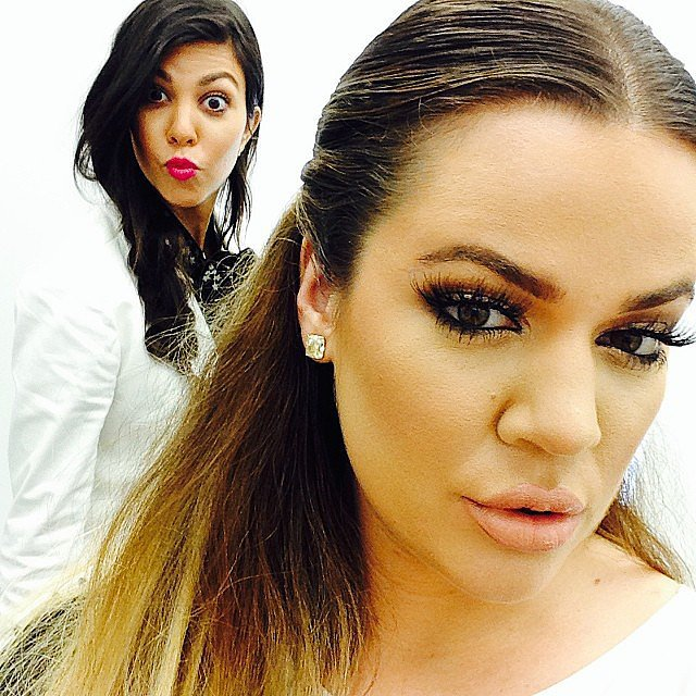 Kourtney photobombed Khloe's snap. Source: Instagram user khloekardashian