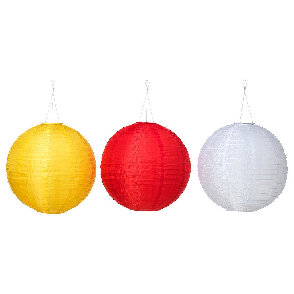 Decorate your yard with these festive hanging lanterns ($15 each) that happen to be environmentally friendly.
