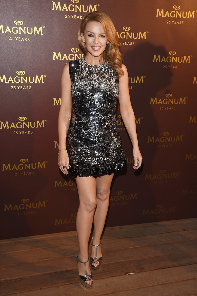 Kylie Minogue at the Magnum 25th Anniversary Party