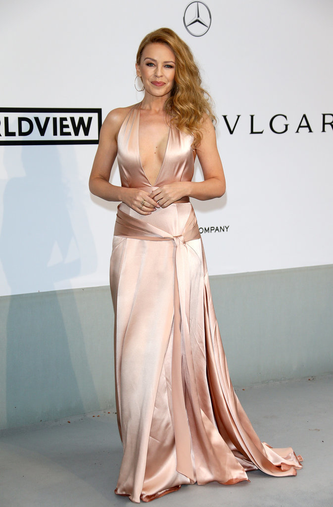 Kylie Minogue showed her support for amfAR.
