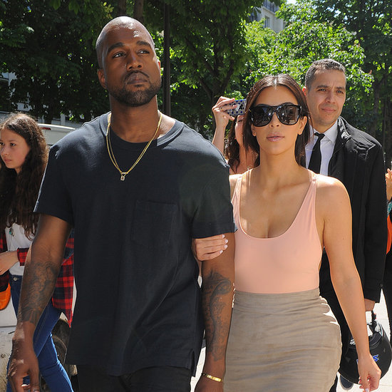 Kanye West and Kim Kardashian in Paris Before Wedding