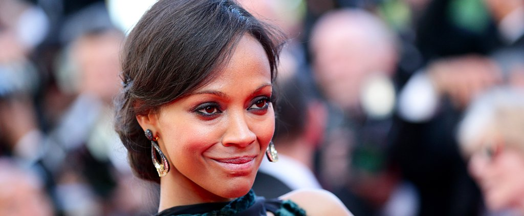 Zoe Saldana Cozies Up to Puppies and Shirtless Guys at a Pool Party