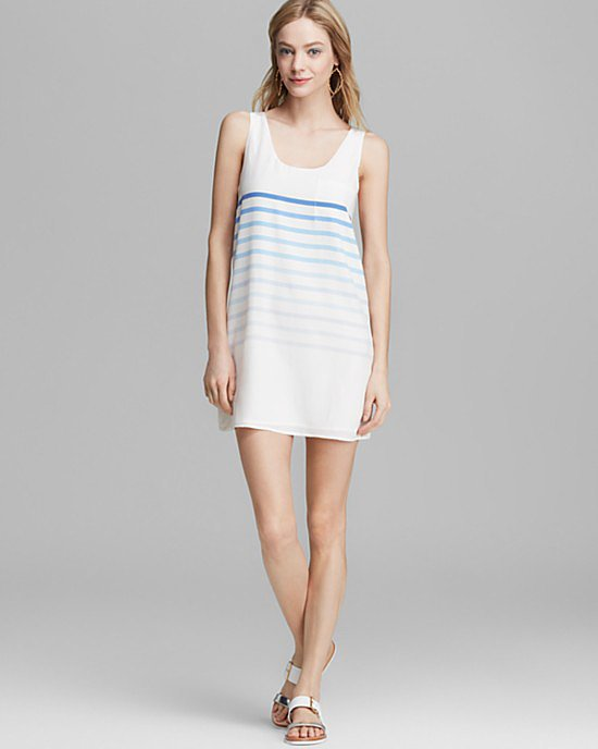 Joie Silk Striped Dress