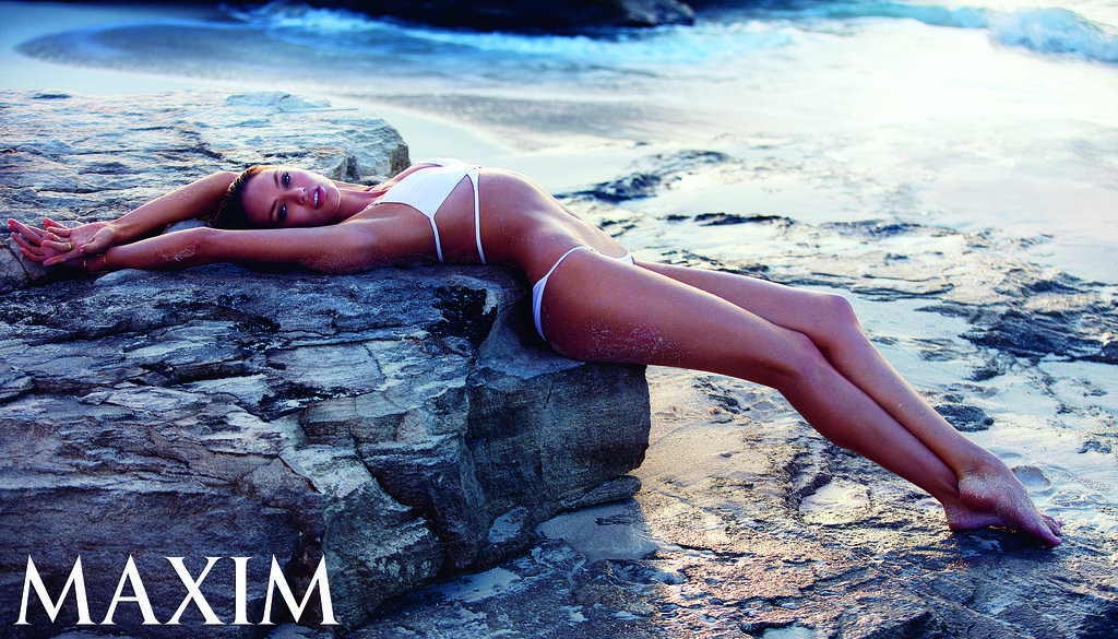 She Makes Lying on a Giant Rock Look Hot