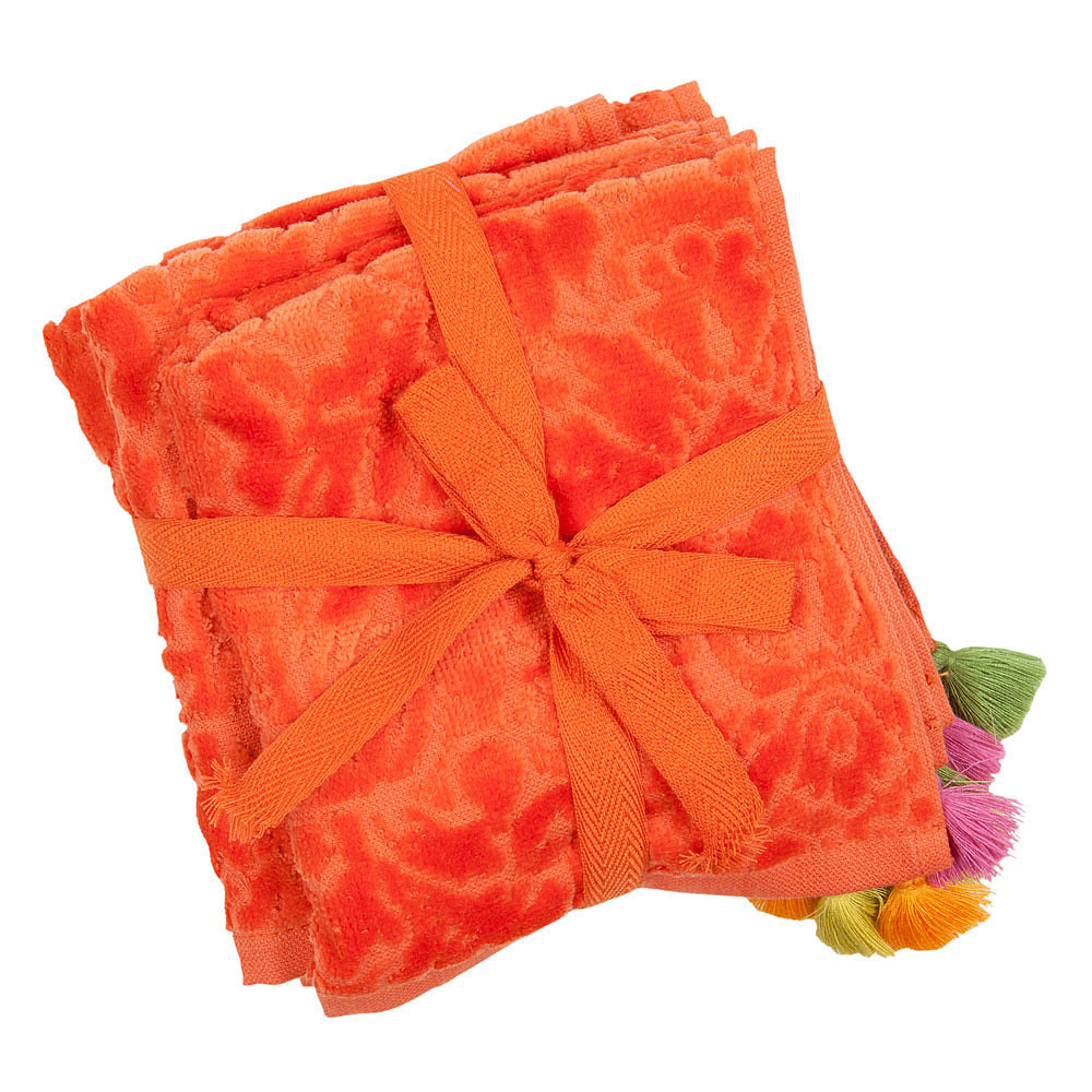 Your bathroom will go from drab to fab simply by folding one of these colorful pom-pom face towels ($3-$20) on your sink.