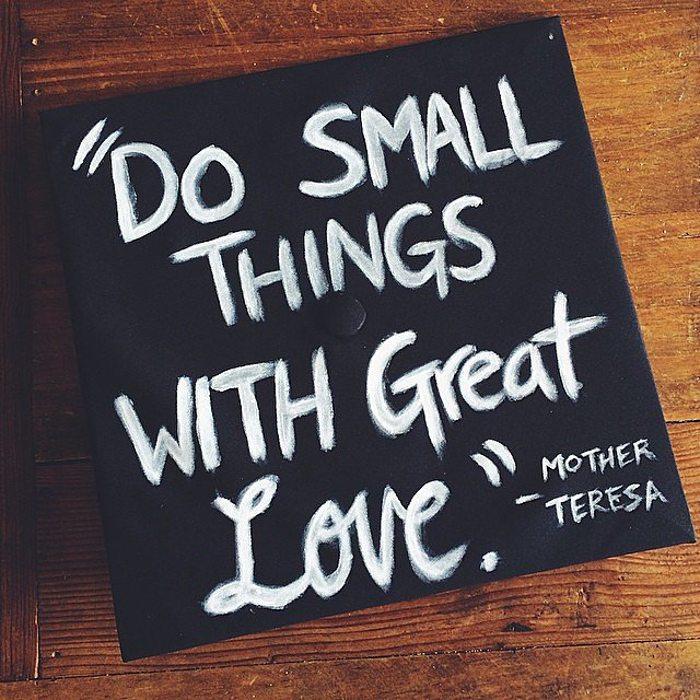 Wise words from Mother Teresa. Source: Instagram user astoos