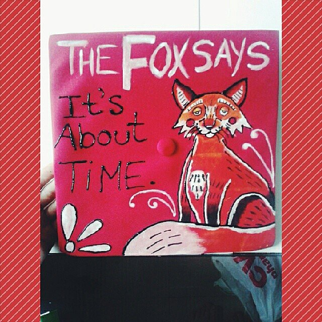 We finally find out what the fox says.  Source: Instagram user herbodydisagrees