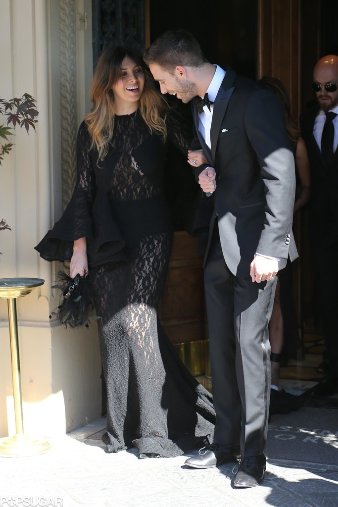 Brittny Gastineau and her date headed to the wedding.