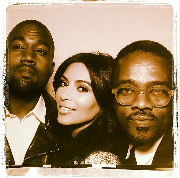Tony Williams took a picture with Kim and Kanye in the wedding's photo booth. Source: Instagram user twftonywilliams