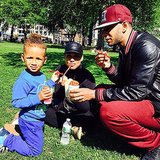 Swizz Beatz and Alicia Keys soaked up the sun in the park.  Source: Instagram user therealswizz