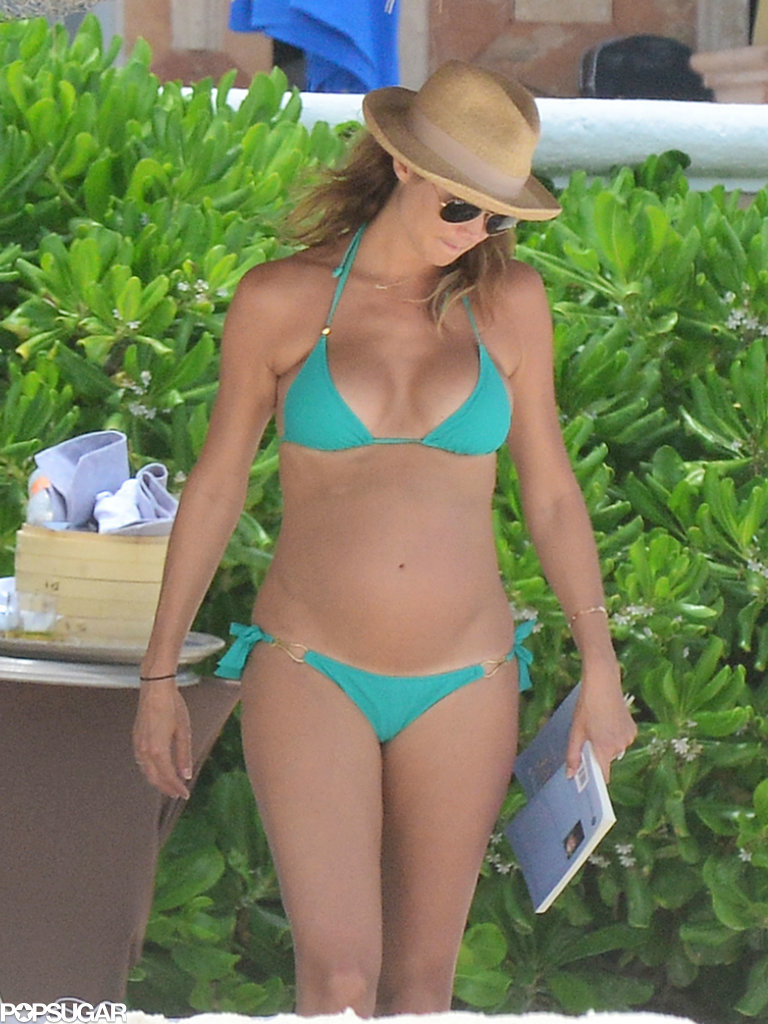 Stacy Keibler S Baby Bump In A Bikini Pictures