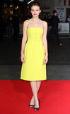 Carey Mulligan in Yellow Christian Dior at the 2013 Centrepiece Gala