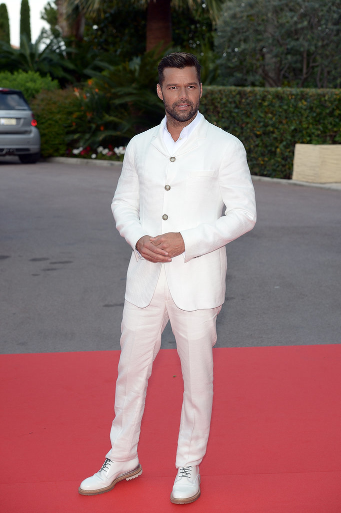 Ricky Martin went for an all-white look.