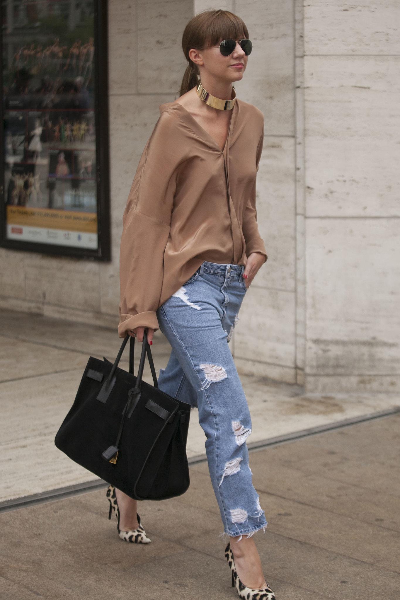 Dress Up Your Boyfriend Jeans 13 Styling Tricks Fashion Girls Live By Popsugar Fashion