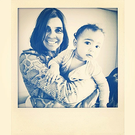 "Carine Roitfeld shared a snap of herself with North, saying, ""Baby North and her new ""nanny"" Lovely little girlxxx."" Source: Instagram user carineroitfeld"