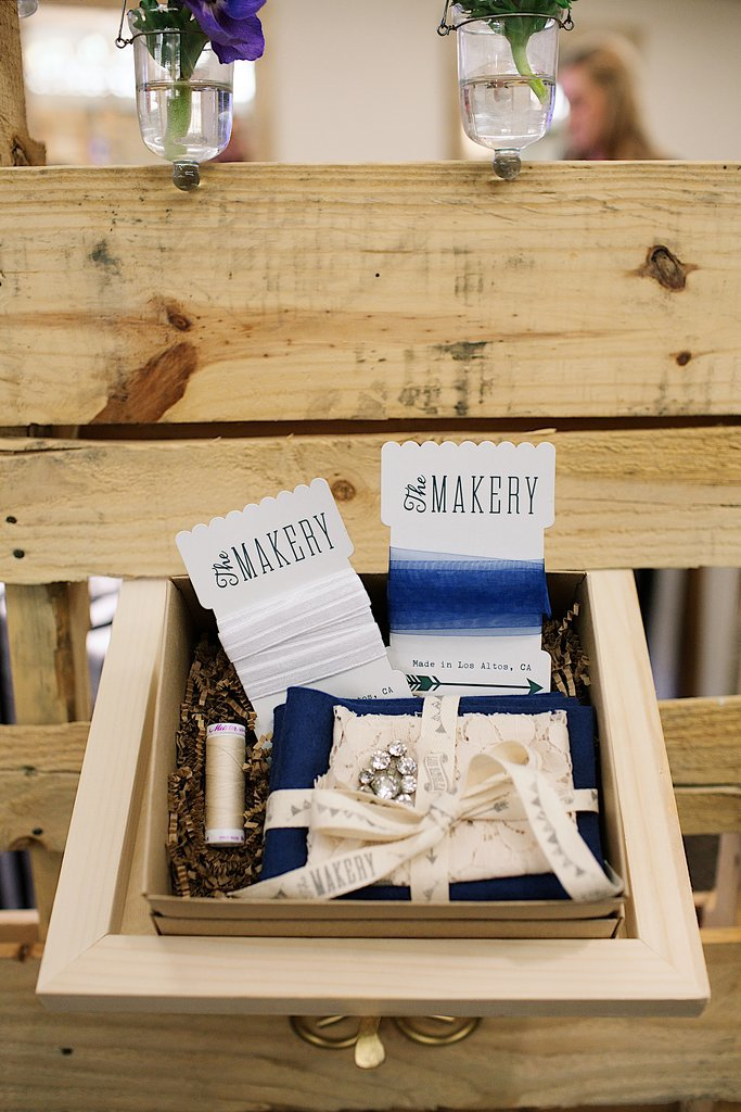 The design challenge contestants had a certain budget at The Makery to create their DIY something-blue kits. This one is by Monica Cruz-Hernandez of Living in Vogue. Photo by Ettevy Photography