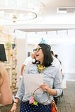 Something Blue founder Karla Randolph laughed during the event. Photo by Ettevy Photography