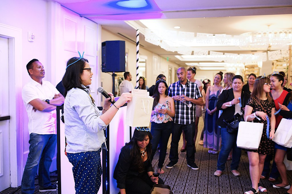 The event's founder, Karla Randolph, announced the raffle winners. Photo by Ettevy Photography