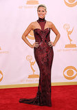 Heidi Klum in Oxblood Atelier Versace at the 2013 Emmy Awards