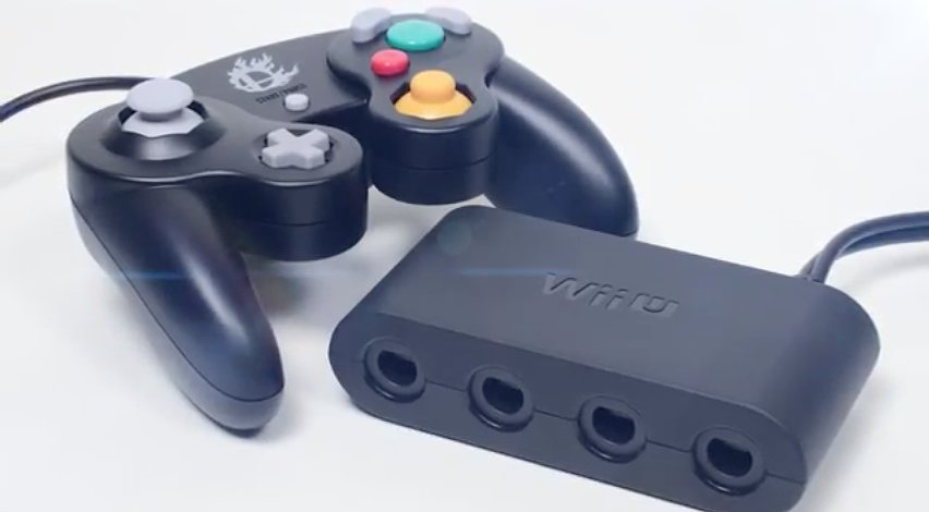 """Nintendo's official Wii U Gamecube controller adapter!"" Source: Reddit user GamerBlue53 via Imgur"
