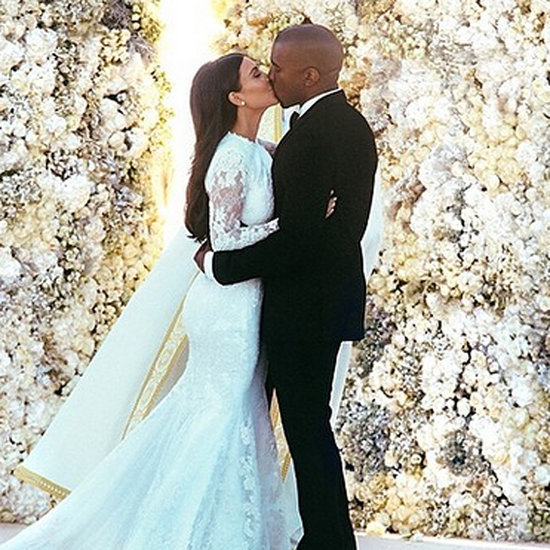 Kim Kardashian Kanye West Wedding Photo Most Likes Instagram