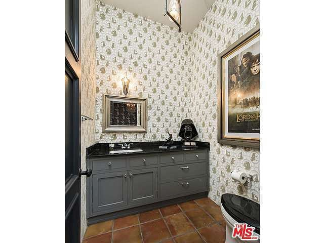 Geeky accessories add loads of personality to this bathroom. Source: Coldwell Banker