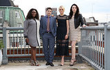 Orange Is the New Black's Danielle Brooks, Jason Biggs, Taylor Schilling, and Laura Prepon posed at a photocall in London on Thursday.