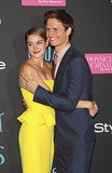 Shailene Woodley and Ansel Elgort embraced at The Fault in Our Stars' NYC premiere on Monday.