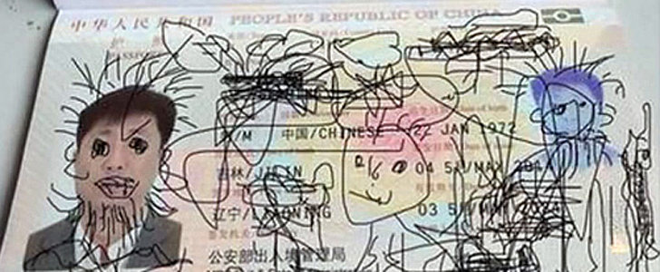 Toddler Doodles All Over His Dad's Passport, Landing Dad in Hot Water
