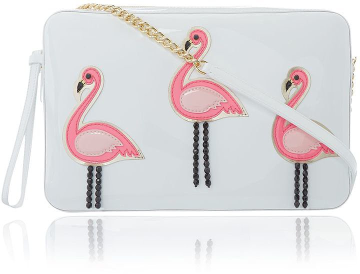 Moschino Cheap & Chic Flamingo Clutch