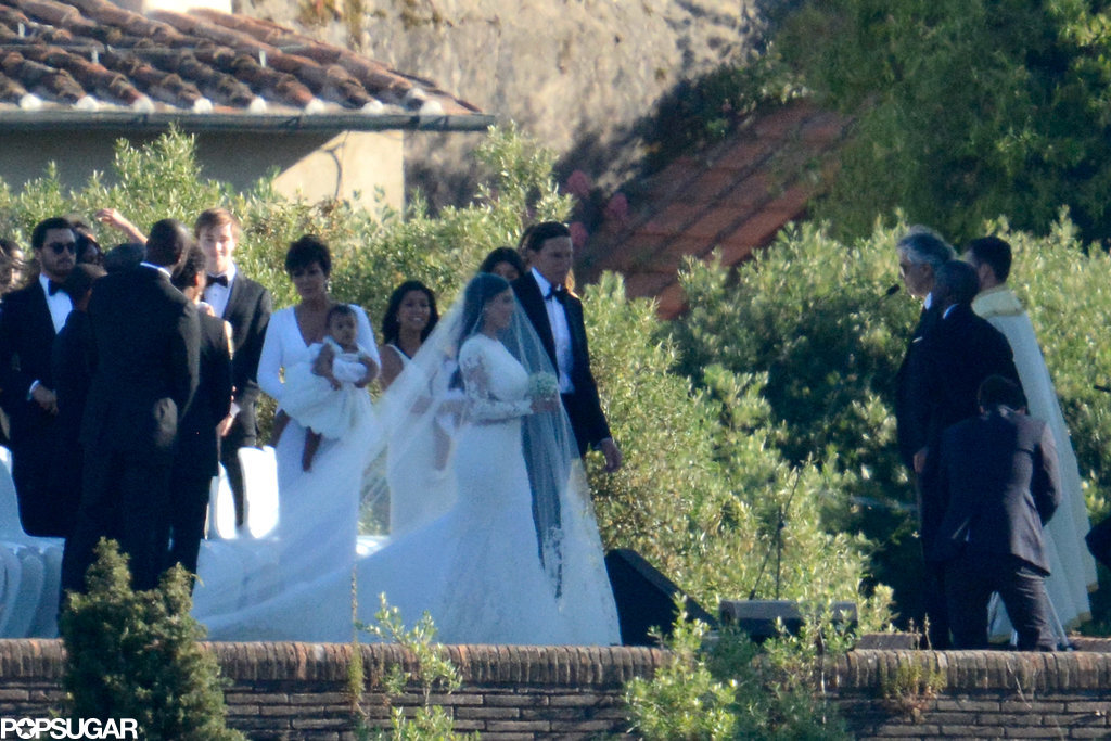 Kris Jenner held on to baby North as her parents tied the knot.