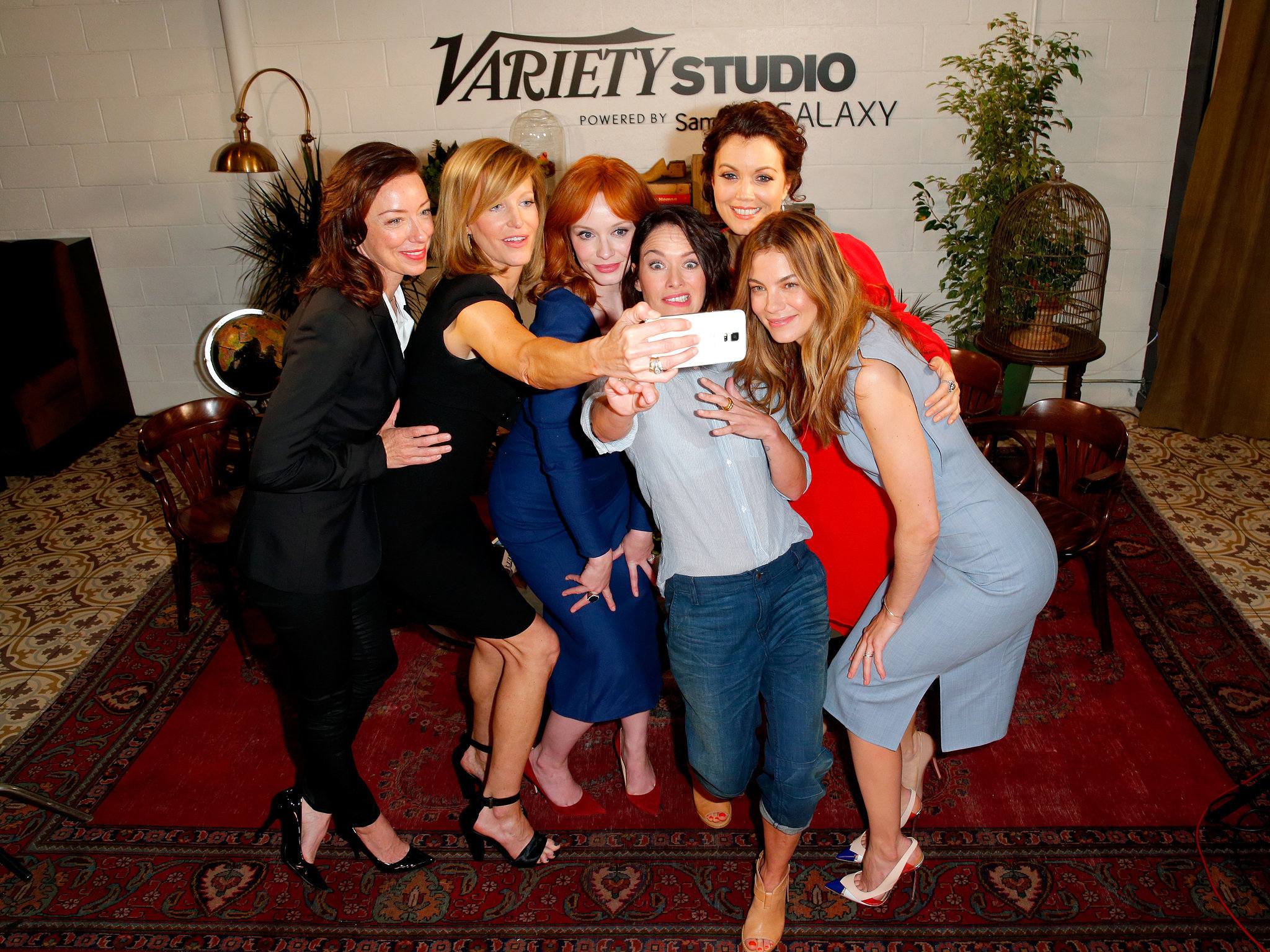 In May 2014, Molly Parker, Anna Gunn, Christina Hendricks, Lena Headey, Bellamy Young, and Michelle Monaghan took an epic photo in LA.