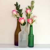 Upcycled Frosted Vases