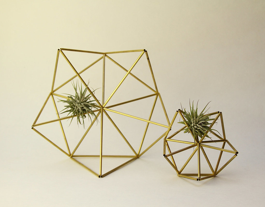 We couldn't help but do a double take when we first saw these brass planters ($48) appear in our Etsy feed. Not only are they a unique way to display succulents, but they're also a great alternative to your table's typica