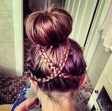 Crisscross Braided Bun