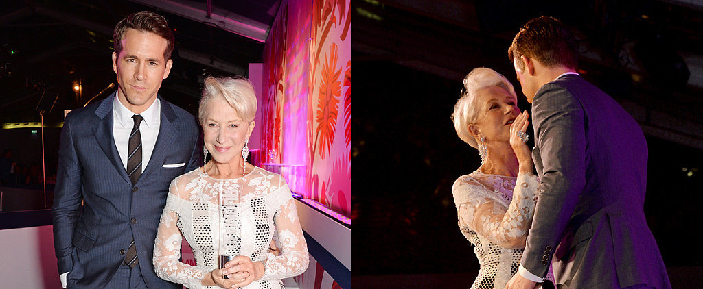 Helen Mirren Cozies Up With Ryan Reynolds