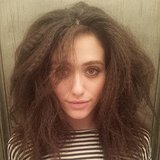 Emmy Rossum experimented with crimping. Source: Instagram user emmyrossum