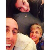 Jerry and Jessica Seinfeld celebrated a New York Mets grand slam with a selfie with their daughter, Sascha. Source: Instagram user jessseinfeld