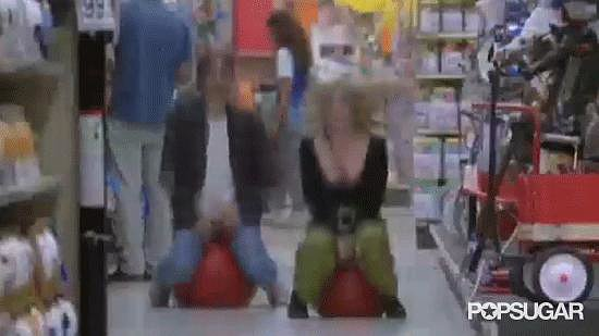You're never too old to goof off in the toy aisle.