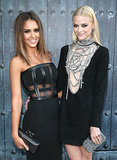 Jessica Alba posed with fellow presenter Jaime King.