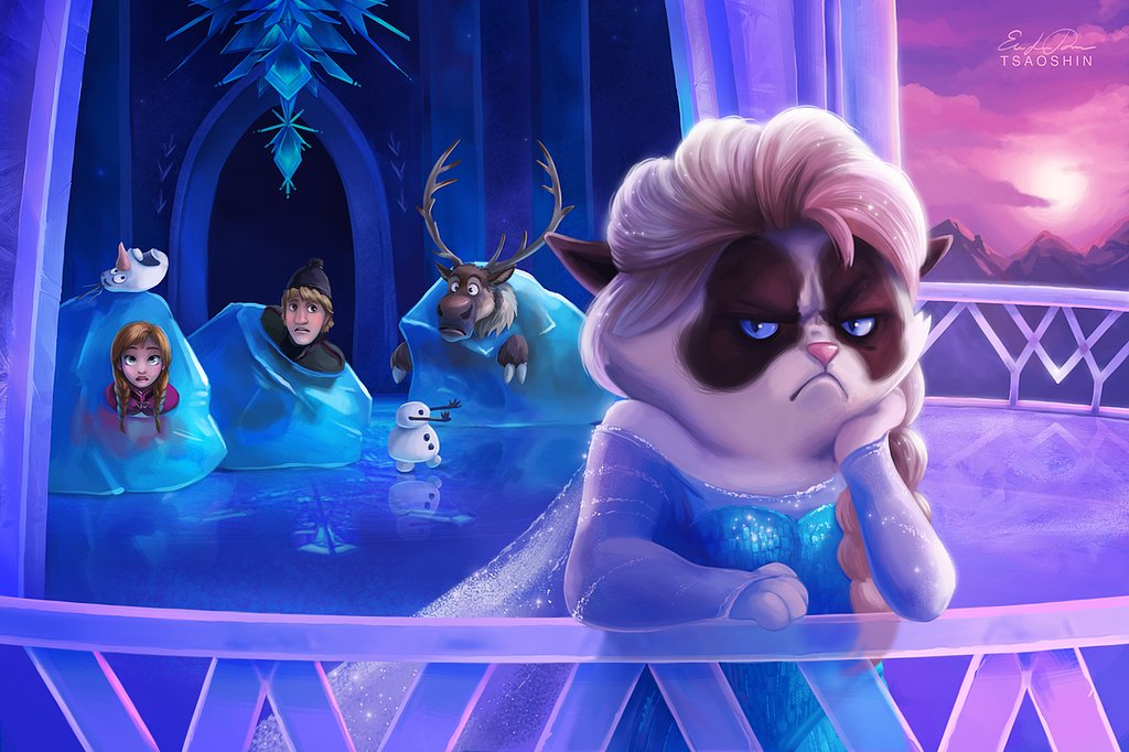 Grumpy Cat Elsa
