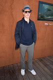 Benedict Cumberbatch posed at the French Open in Paris on Sunday.
