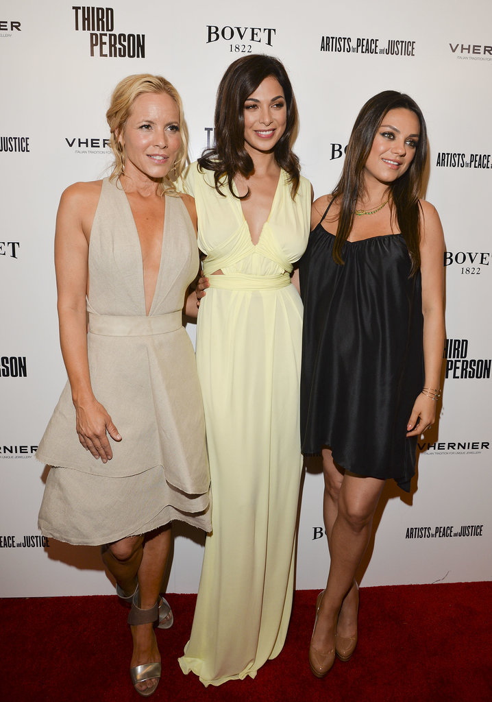 Mila walked the carpet with costars Maria Bello and Moran Atias.