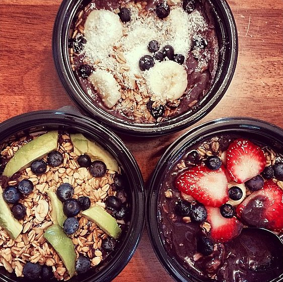 No two acai bowls need to be alike. Experiment with your favorite ingredients and toppings to find a mix that you love.  Source: Instagram user wellwithabigail
