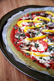 Vegan Quinoa Basil Pizza Crust