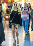 Jessica Simpson's sexy stems were on display at the JFK airport on Tuesday.