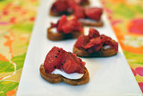 Crostini With Orange, Pear, and Cranberry Mostarda