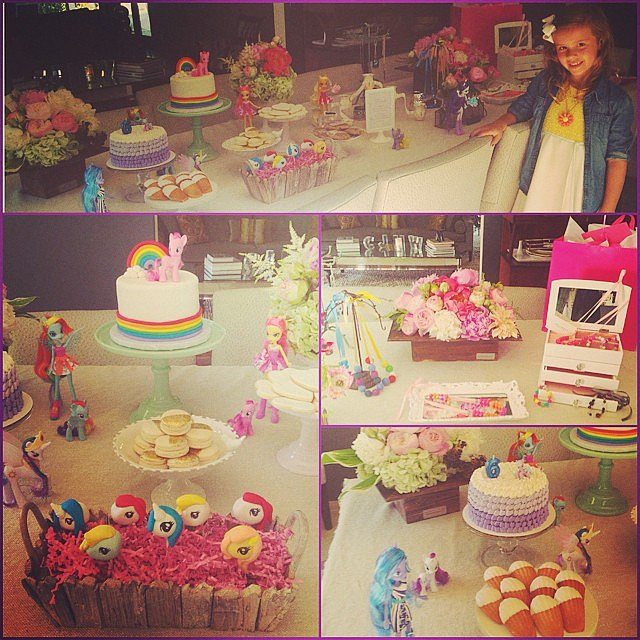 It was a My Little Pony party for Honor Warren's sixth birthday. Source: Instagram user jessicaalba