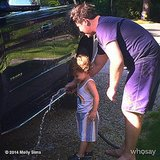 Brooks Stuber was put to work washing his uncle's truck. Source: Instagram user mollybsims