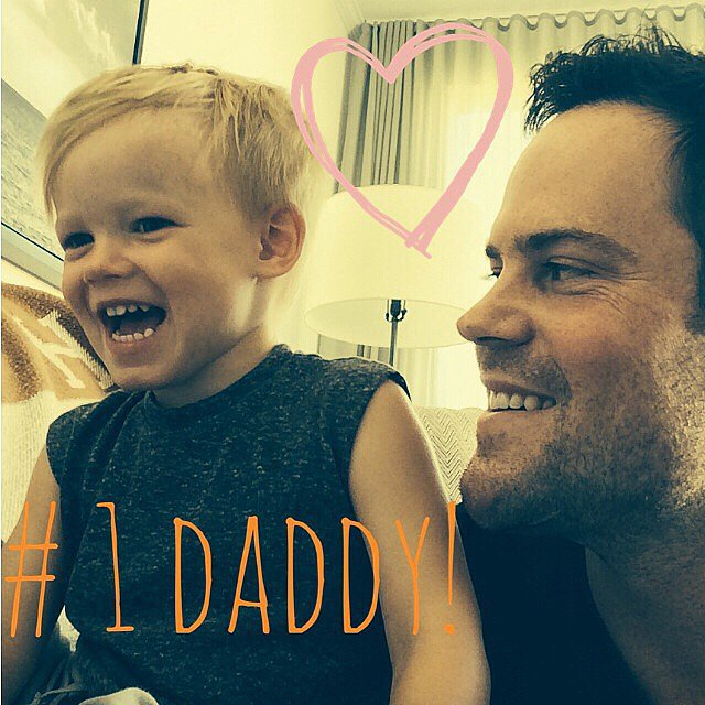 "Hilary Duff couldn't help but share this supersweet picture of Luca and Mike Comrie, writing, ""Happy daddy's day Mikey!!!"" Source: Instagram user hilaryduff"